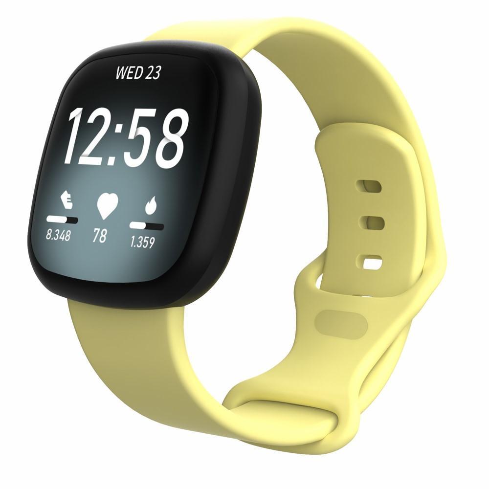 Silikoniranneke Fitbit Versa 3/Sense keltainen (Small)