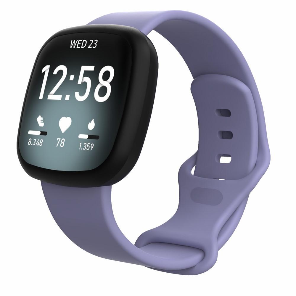 Silikoniranneke Fitbit Versa 3/Sense liila (Small)