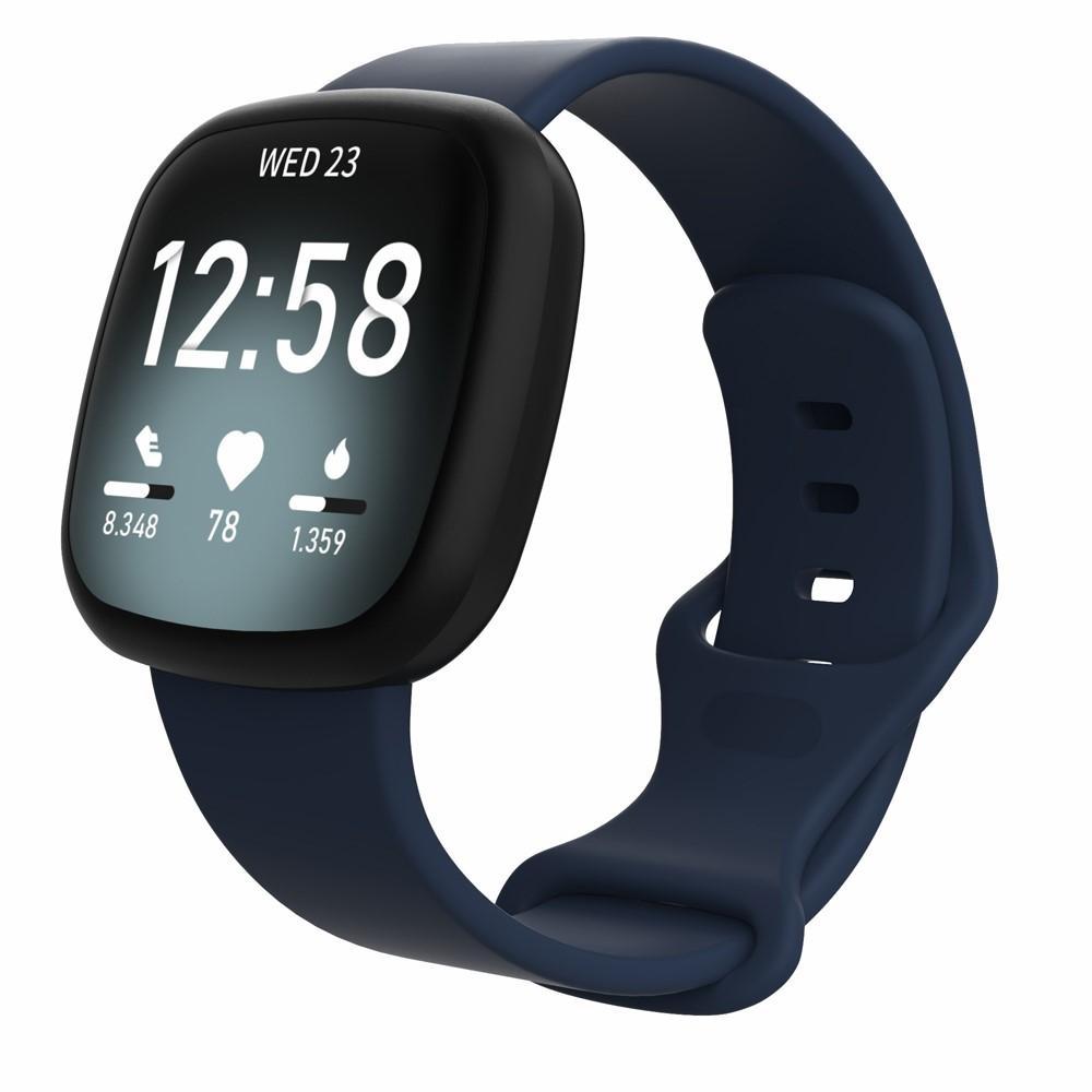 Silikoniranneke Fitbit Versa 3/Sense sininen (Small)