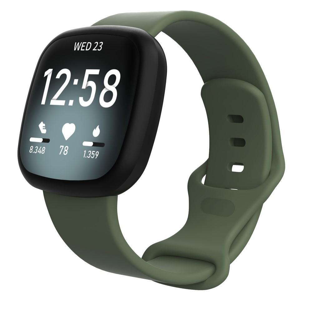 Silikoniranneke Fitbit Versa 3/Sense vihreä (Small)