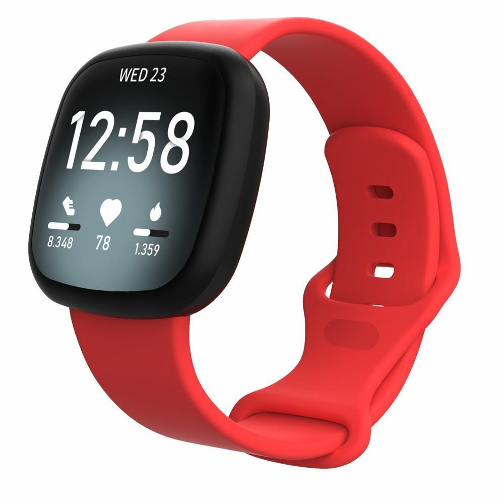 Silikoniranneke Fitbit Versa 3/Sense punainen (Small)