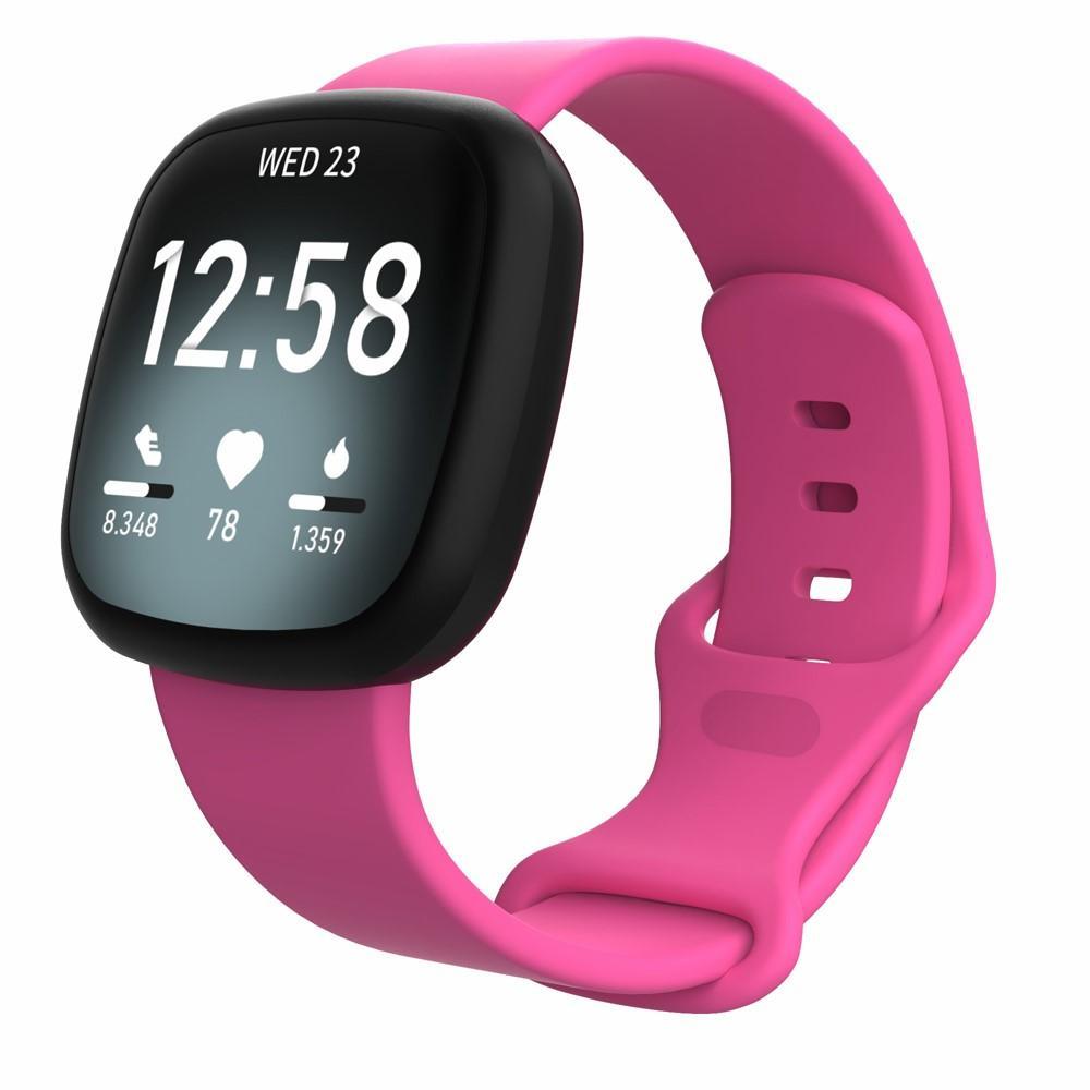 Silikoniranneke Fitbit Versa 3/Sense vaaleanpunainen (Small)