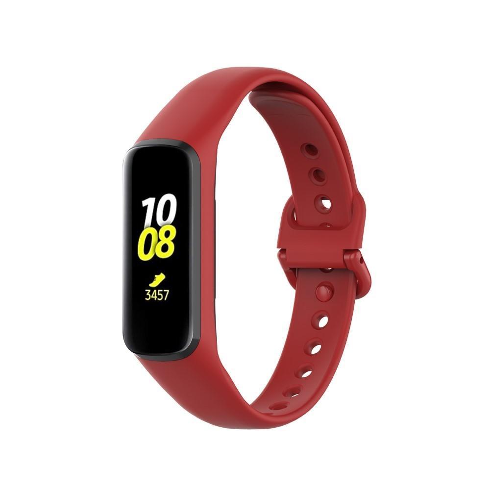 Silikoniranneke Samsung Galaxy Fit 2 punainen
