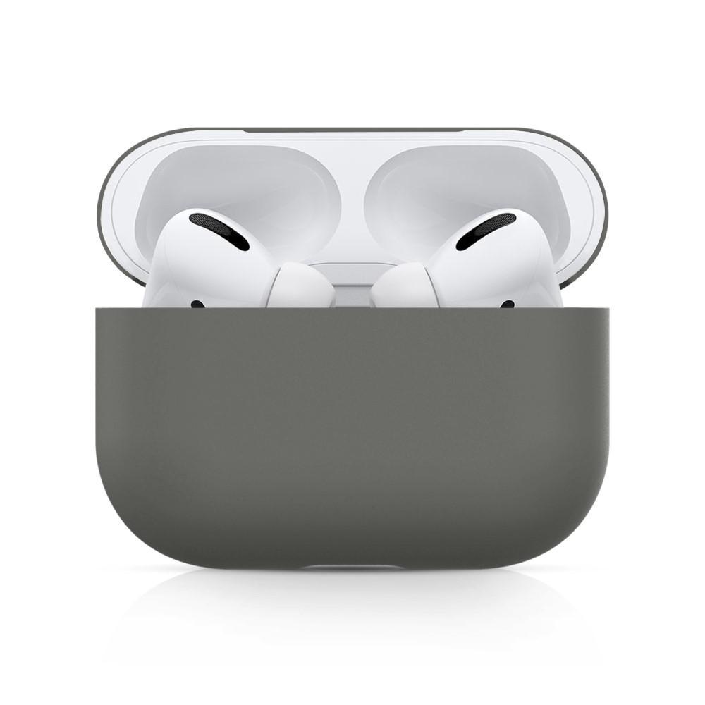 Silikonikotelo Apple AirPods Pro harmaa