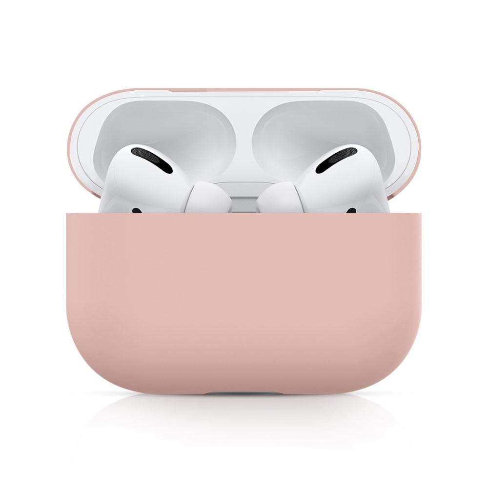 Silikonikotelo Apple AirPods Pro vaaleanpunainen