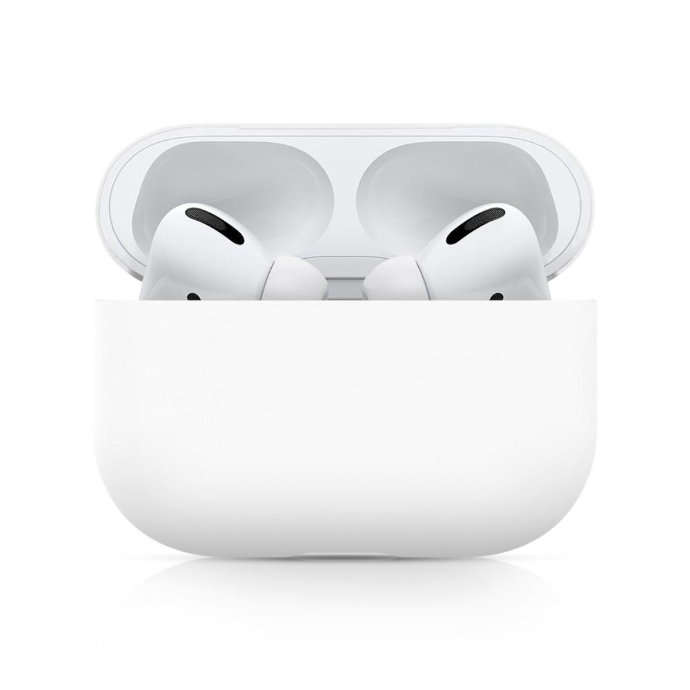 Silikonikotelo Apple AirPods Pro valkoinen