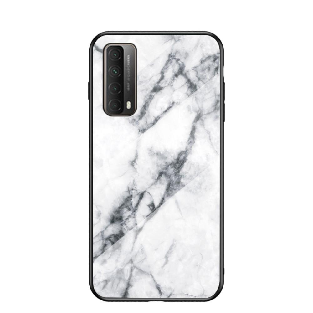 Panssarilasi Kuori Huawei P Smart 2021 valkoinen marmori