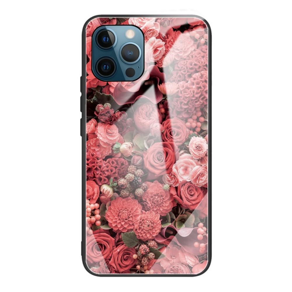 Panssarilasi Kuori iPhone 12/12 Pro ruusuja