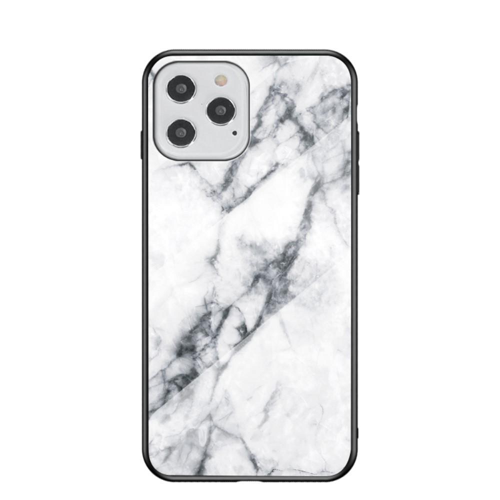 Panssarilasi Kuori iPhone 12/12 Pro valkoinen marmori