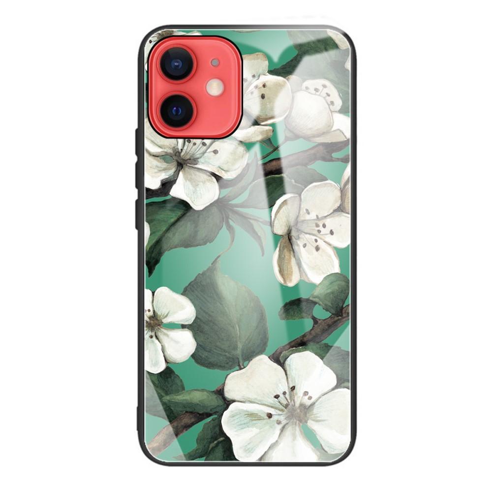 Panssarilasi Kuori iPhone 12 Mini kukat