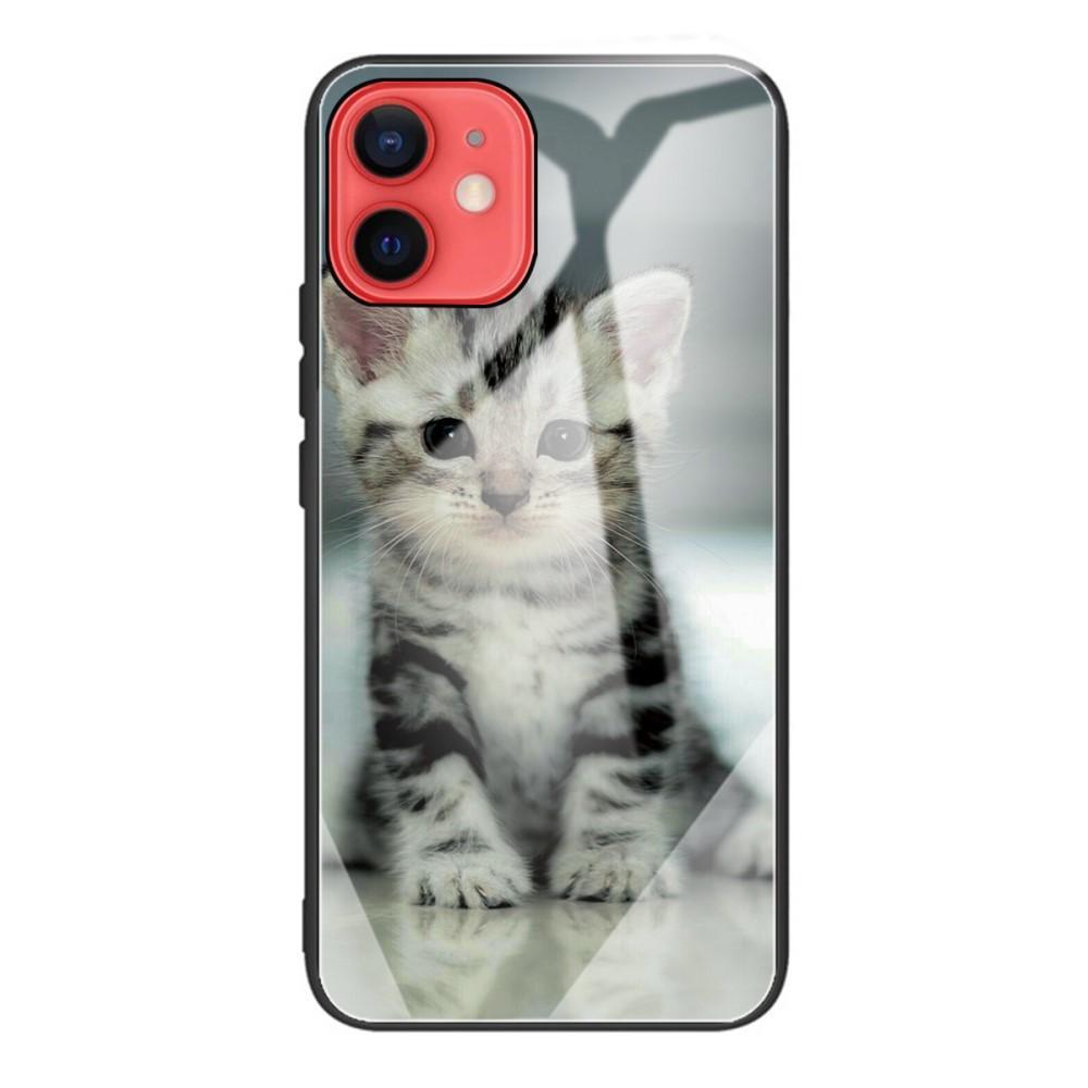 Panssarilasi Kuori iPhone 12 Mini kissanpentu
