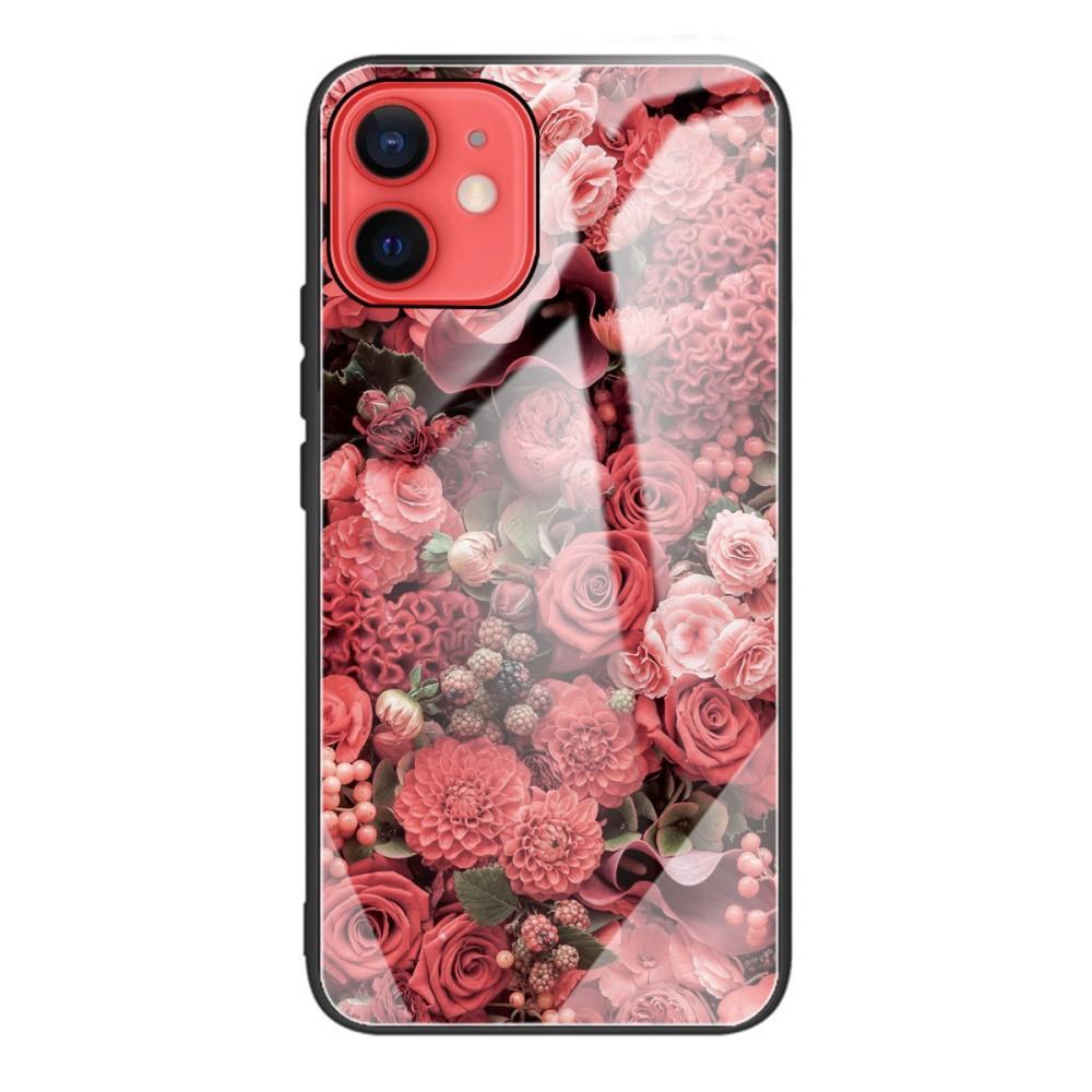 Panssarilasi Kuori iPhone 12 Mini ruusuja