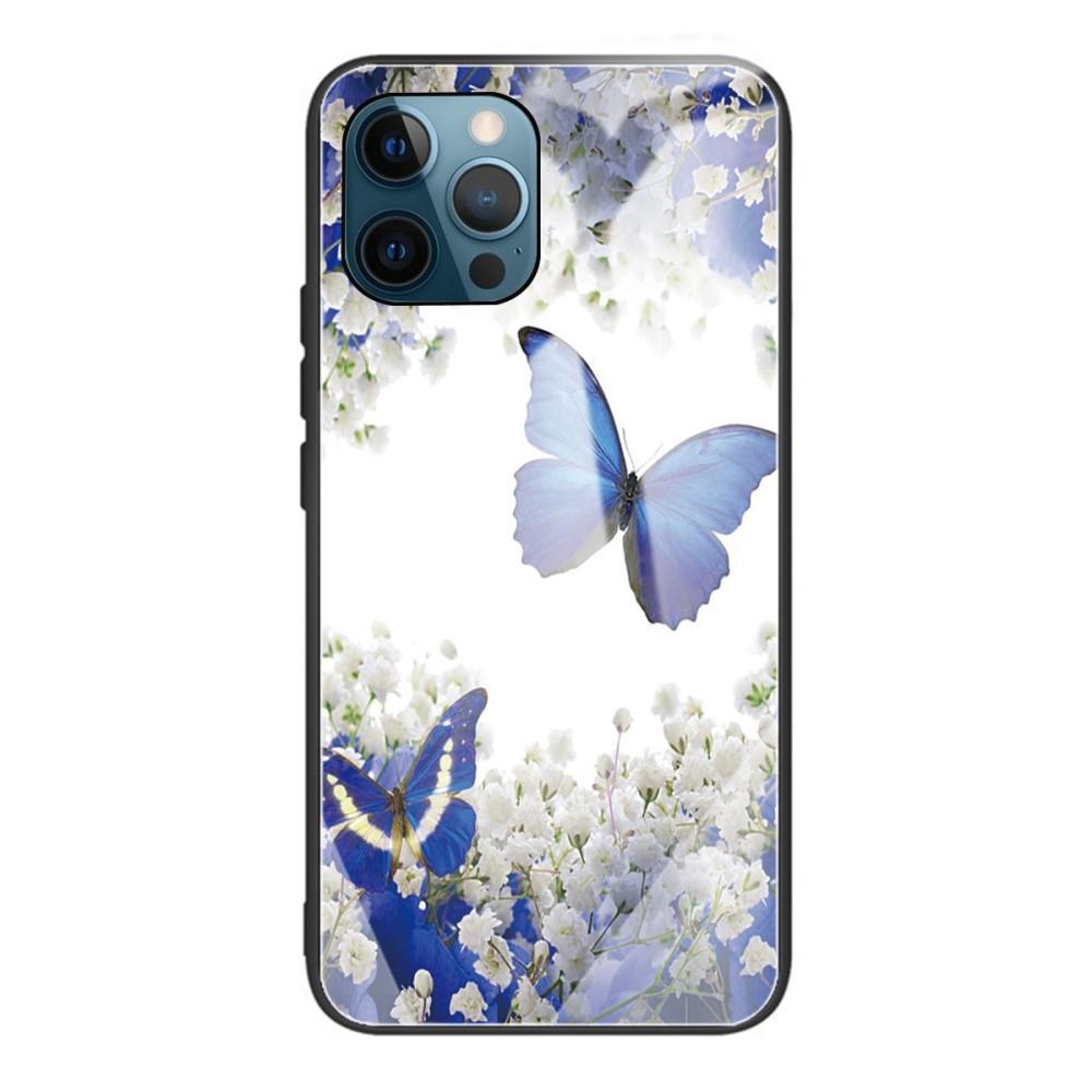 Panssarilasi Kuori iPhone 12 Pro Max perhonen
