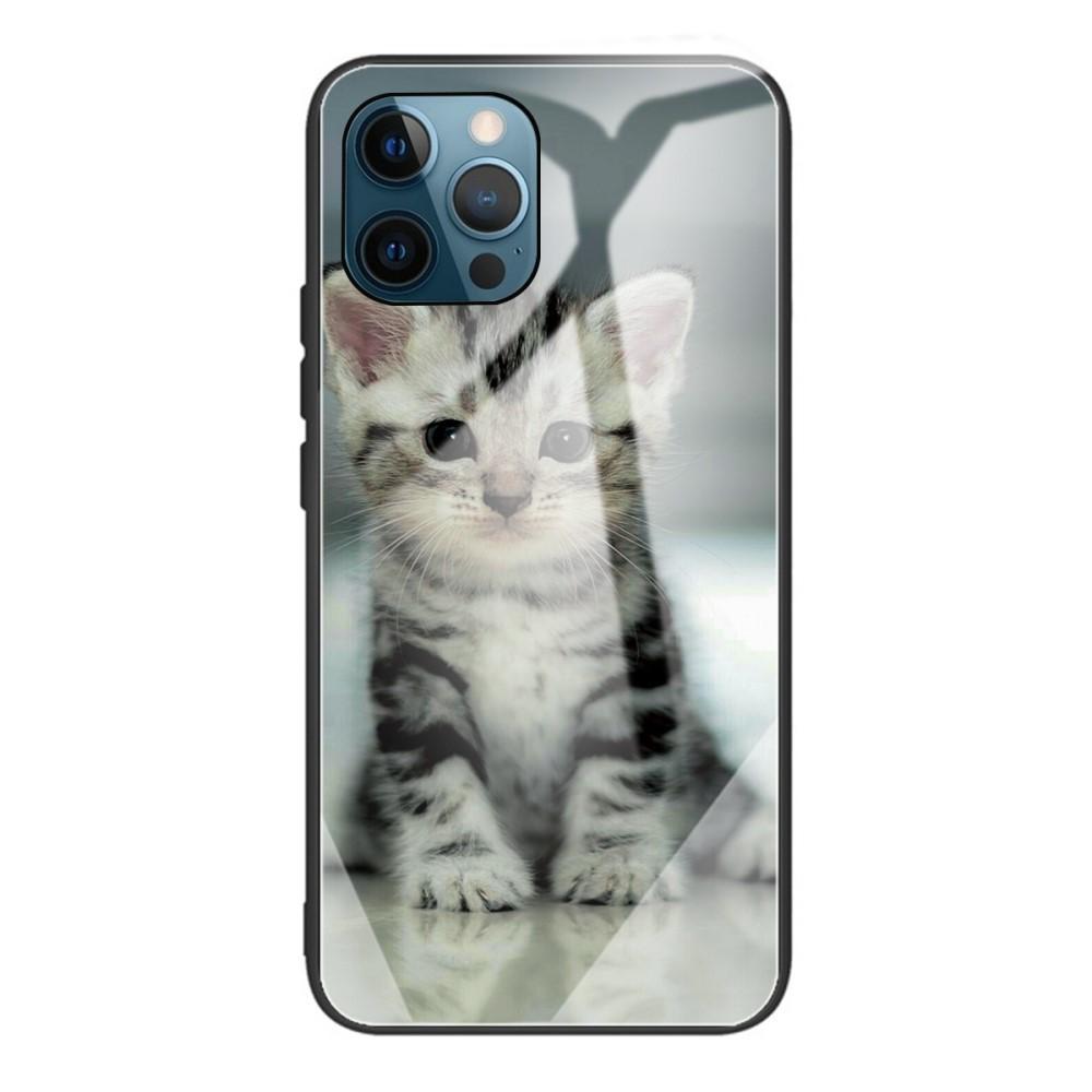 Panssarilasi Kuori iPhone 12 Pro Max kissanpentu