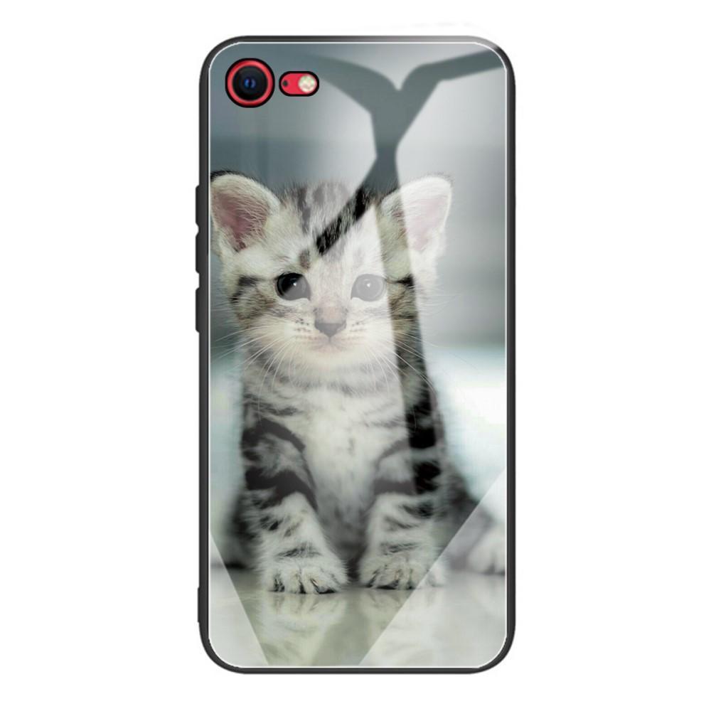 Panssarilasi Kuori iPhone 7/8/SE 2020 kissanpentu