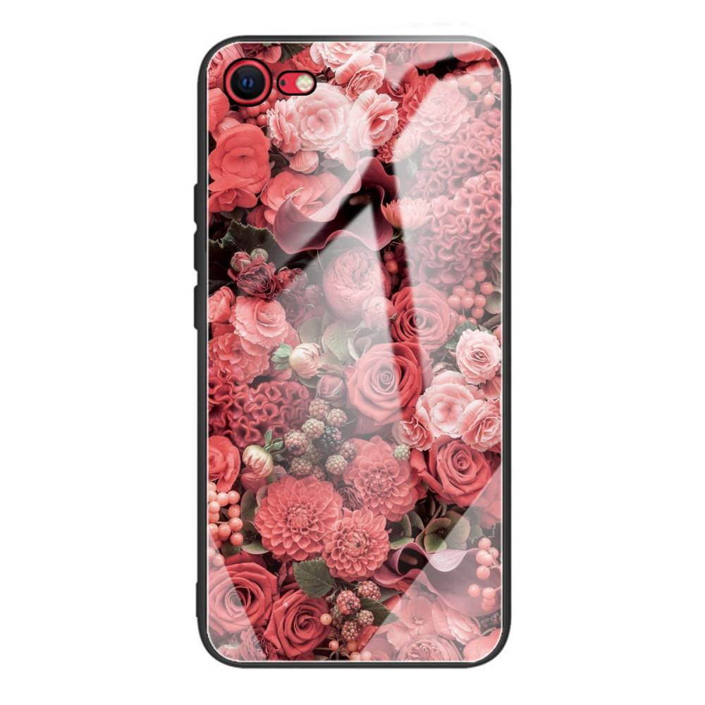 Panssarilasi Kuori iPhone 7/8/SE 2020 ruusuja