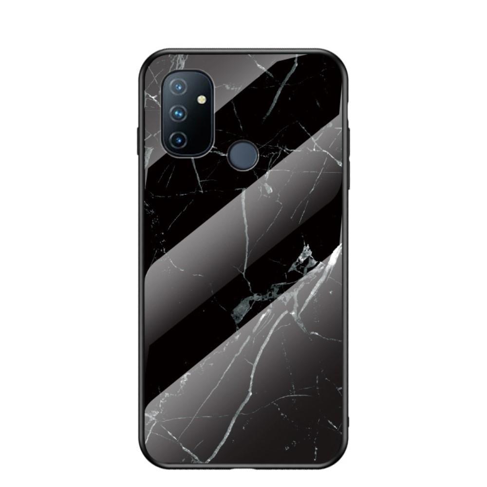 Panssarilasi Kuori OnePlus Nord N100 musta marmori