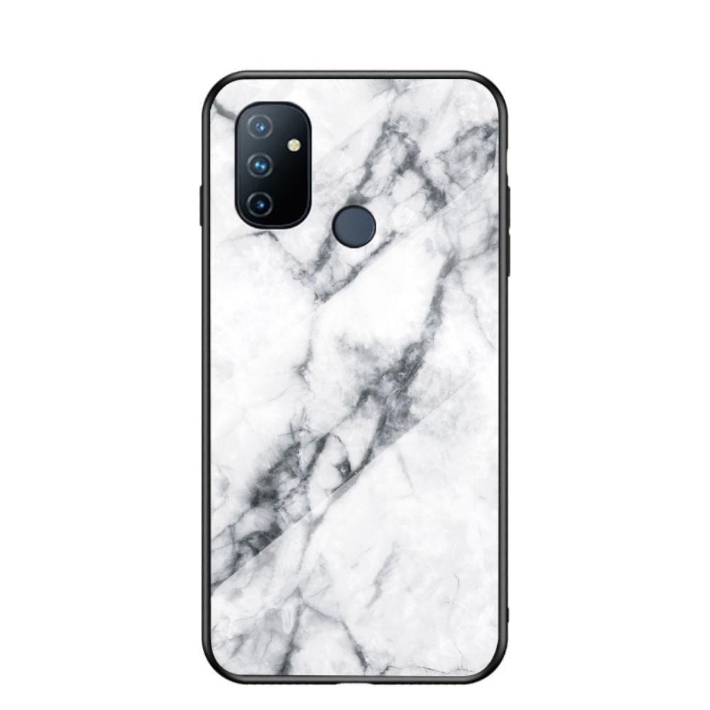 Panssarilasi Kuori OnePlus Nord N100 valkoinen marmori