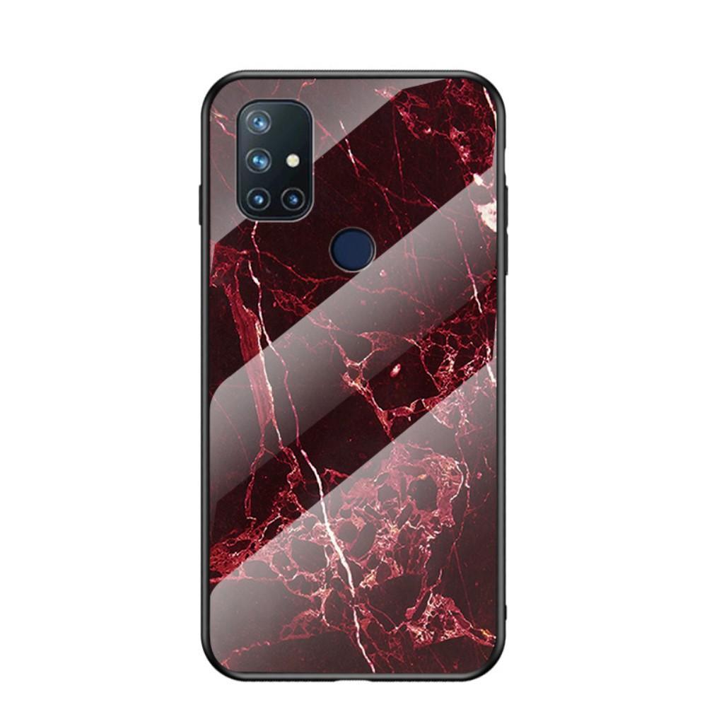 Panssarilasi Kuori OnePlus Nord N10 5G punainen marmori