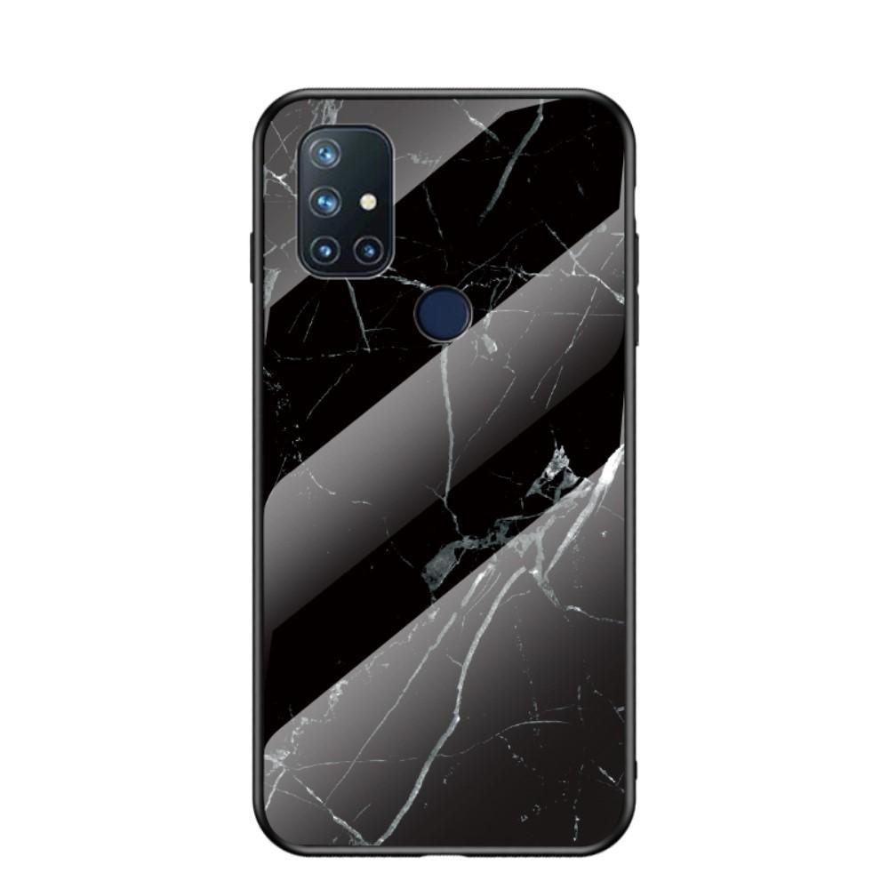 Panssarilasi Kuori OnePlus Nord N10 5G musta marmori