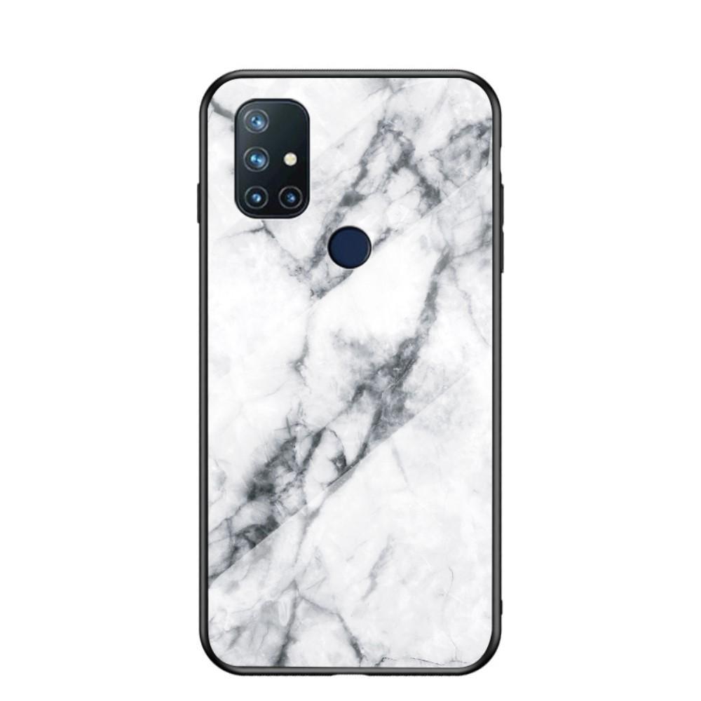 Panssarilasi Kuori OnePlus Nord N10 5G valkoinen marmori