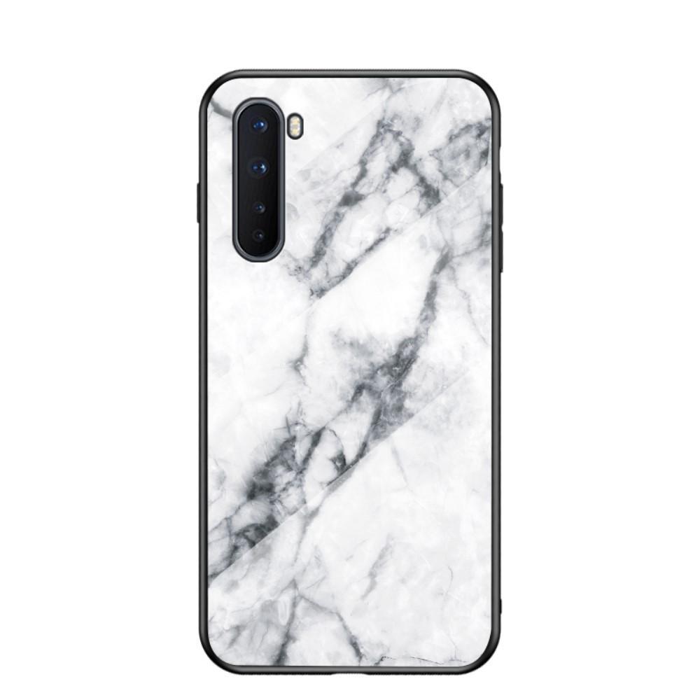 Panssarilasi Kuori OnePlus Nord valkoinen marmori