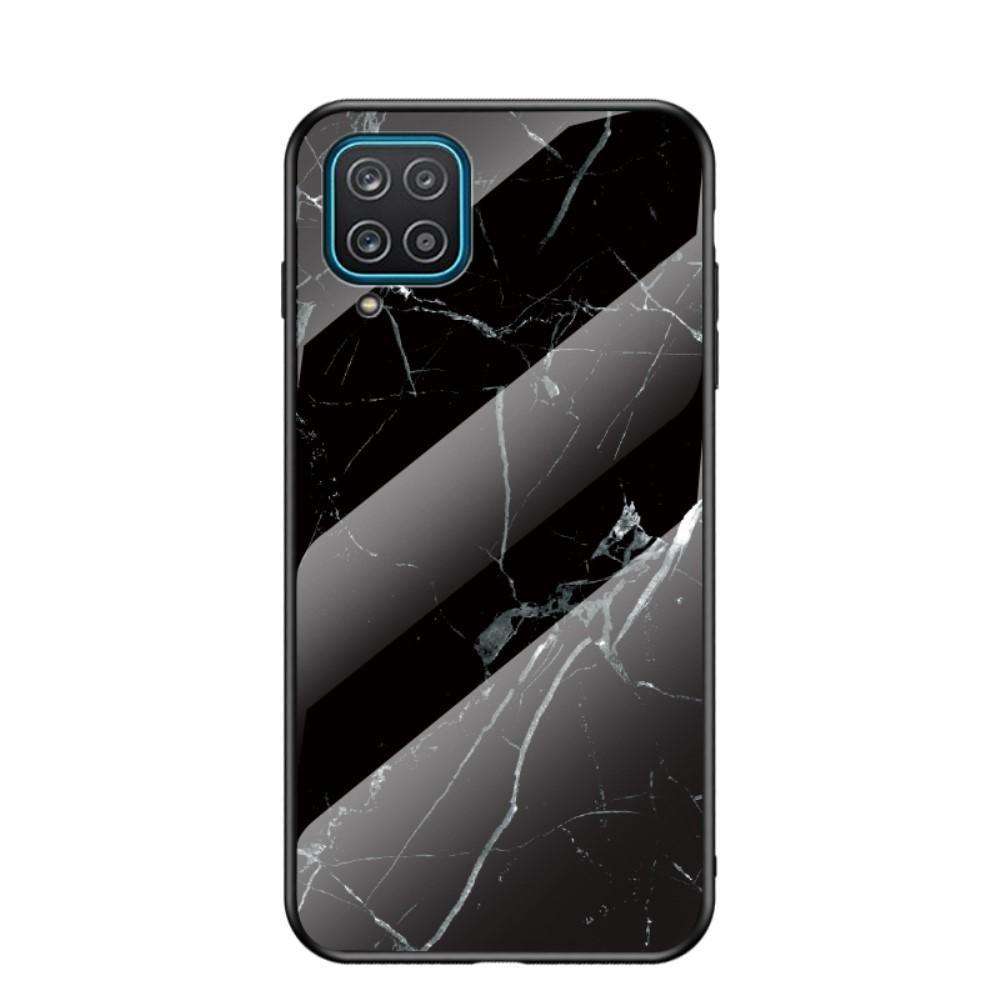 Panssarilasi Kuori Samsung Galaxy A12 musta marmori