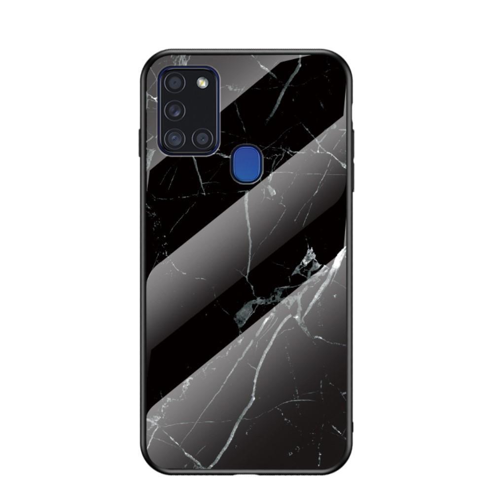 Panssarilasi Kuori Samsung Galaxy A21s musta marmori