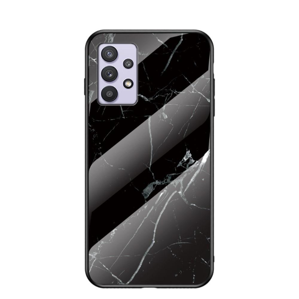 Panssarilasi Kuori Samsung Galaxy A32 5G musta marmori
