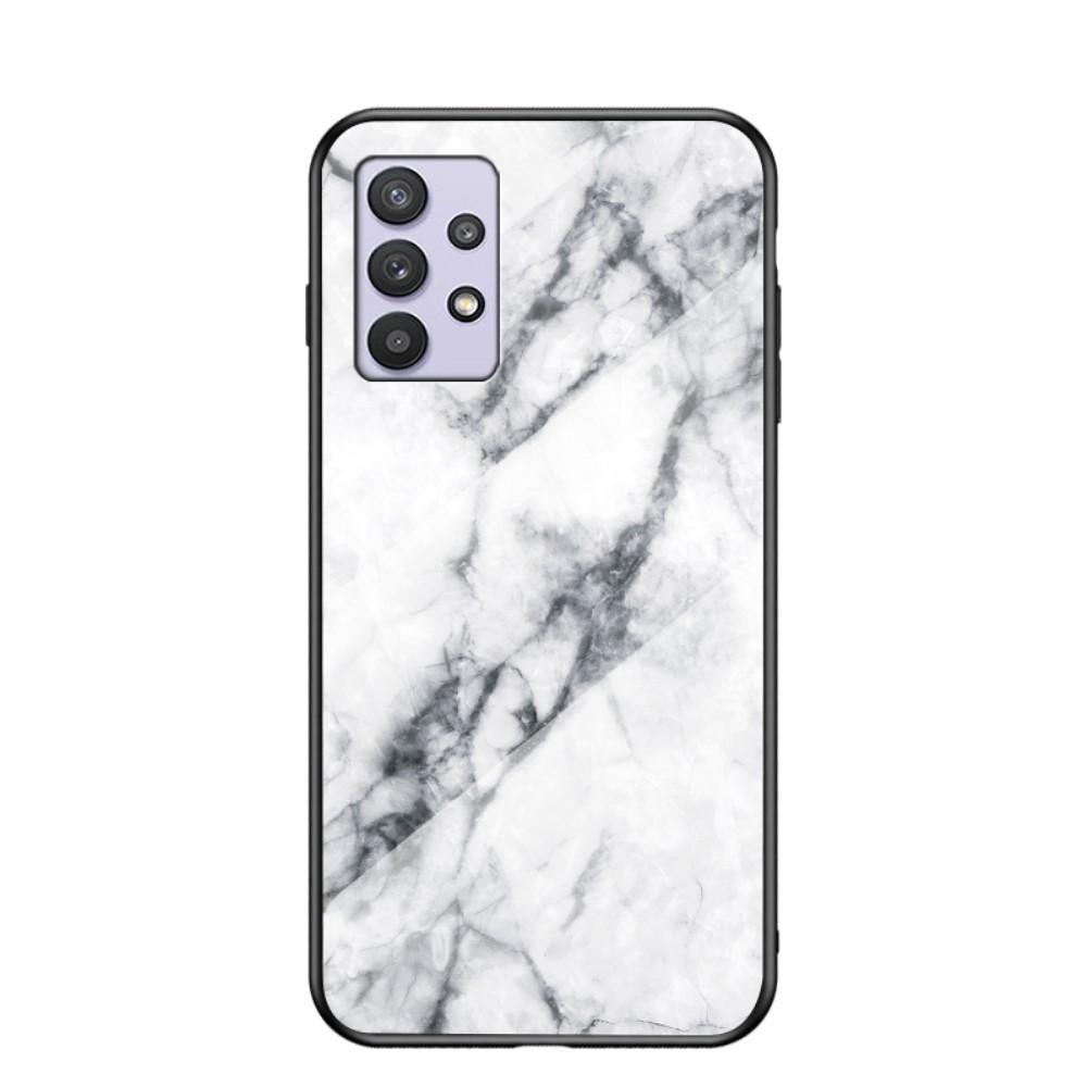 Panssarilasi Kuori Samsung Galaxy A32 5G valkoinen marmori