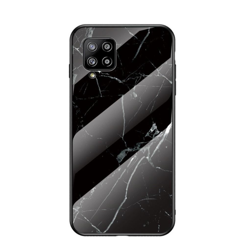 Panssarilasi Kuori Samsung Galaxy A42 5G musta marmori