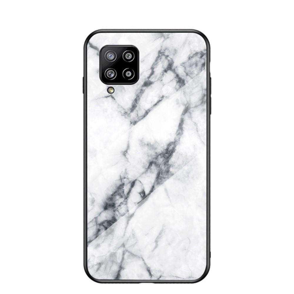 Panssarilasi Kuori Samsung Galaxy A42 5G valkoinen marmori
