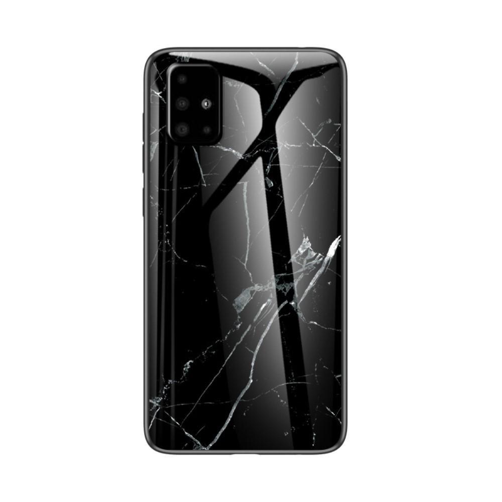 Panssarilasi Kuori Samsung Galaxy A51 musta marmori