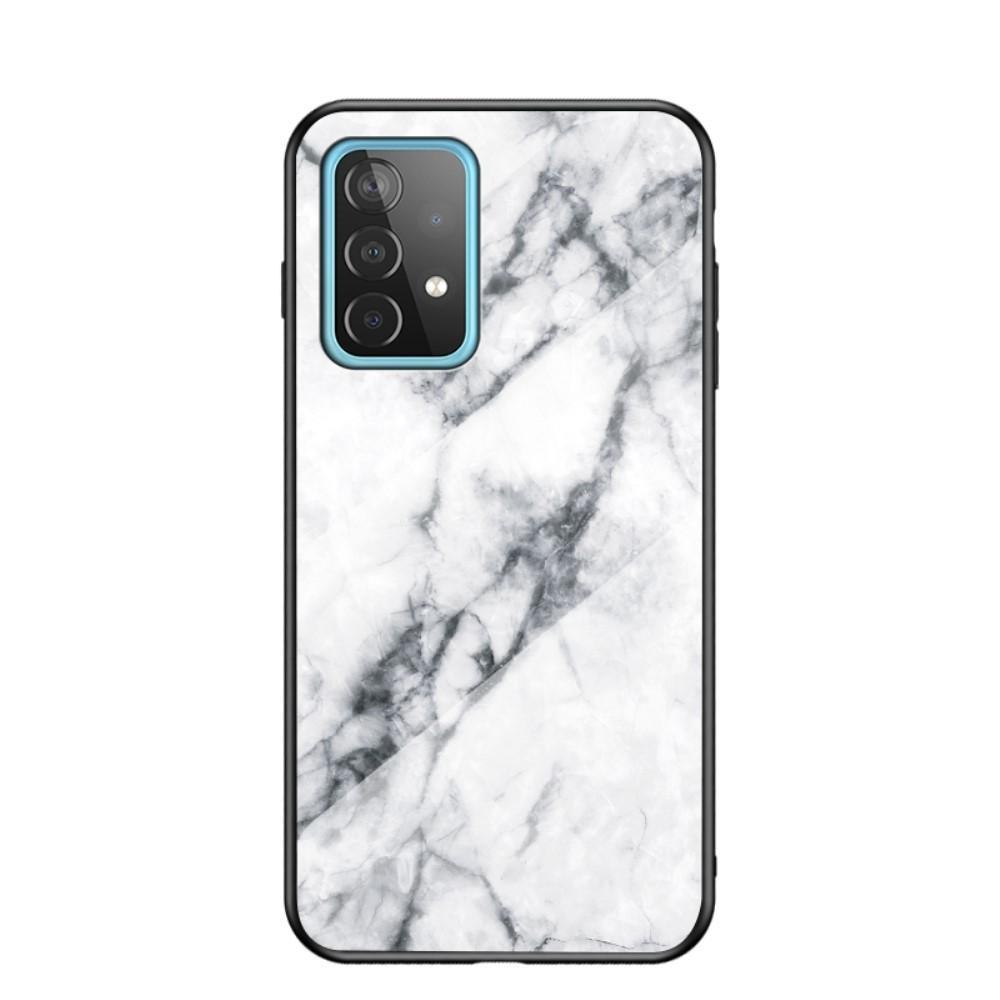 Panssarilasi Kuori Samsung Galaxy A52 5G valkoinen marmori