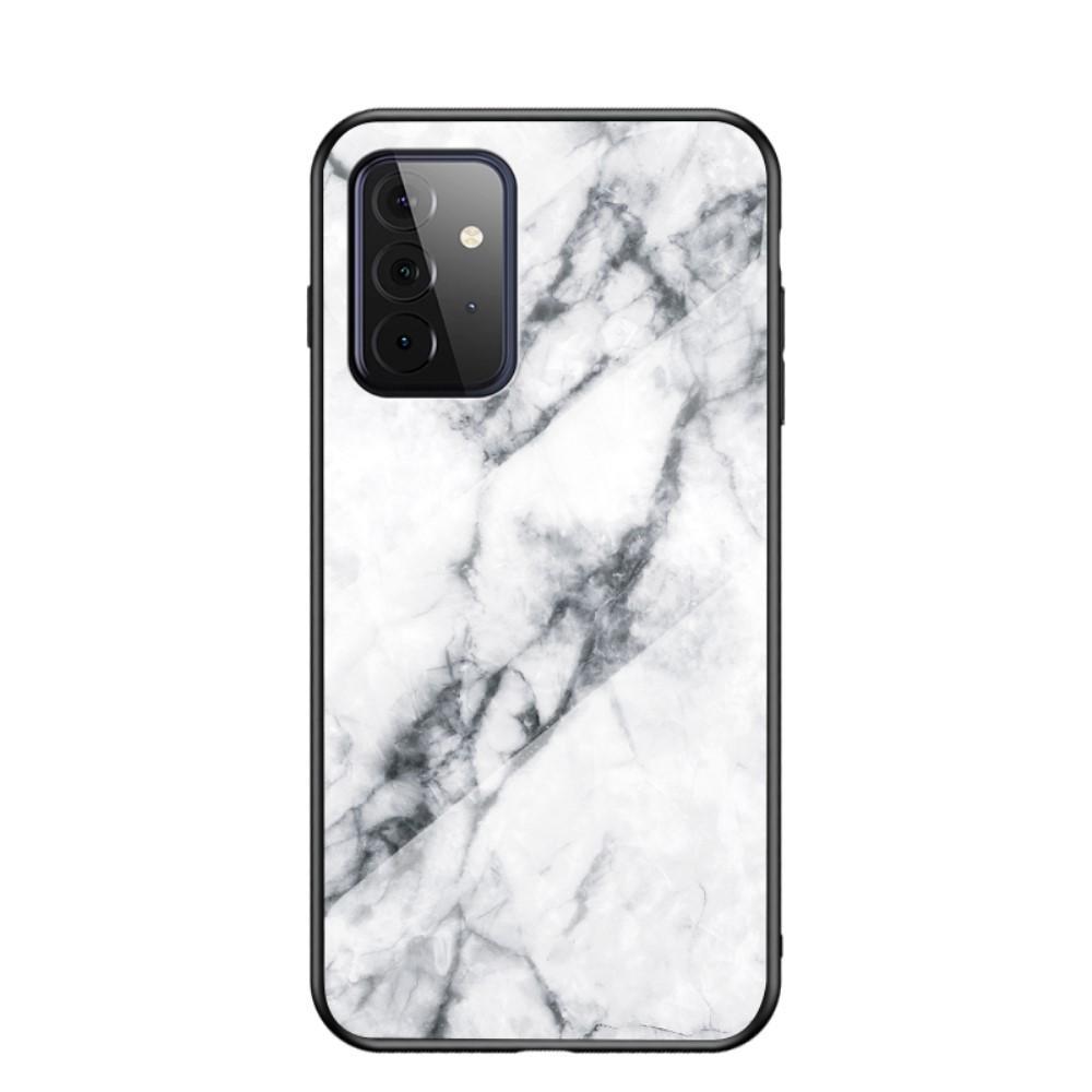 Panssarilasi Kuori Samsung Galaxy A72 5G valkoinen marmori