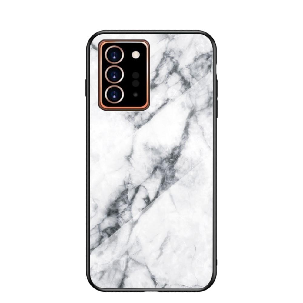 Panssarilasi Kuori Samsung Galaxy Note 20 Ultra valkoinen marmori