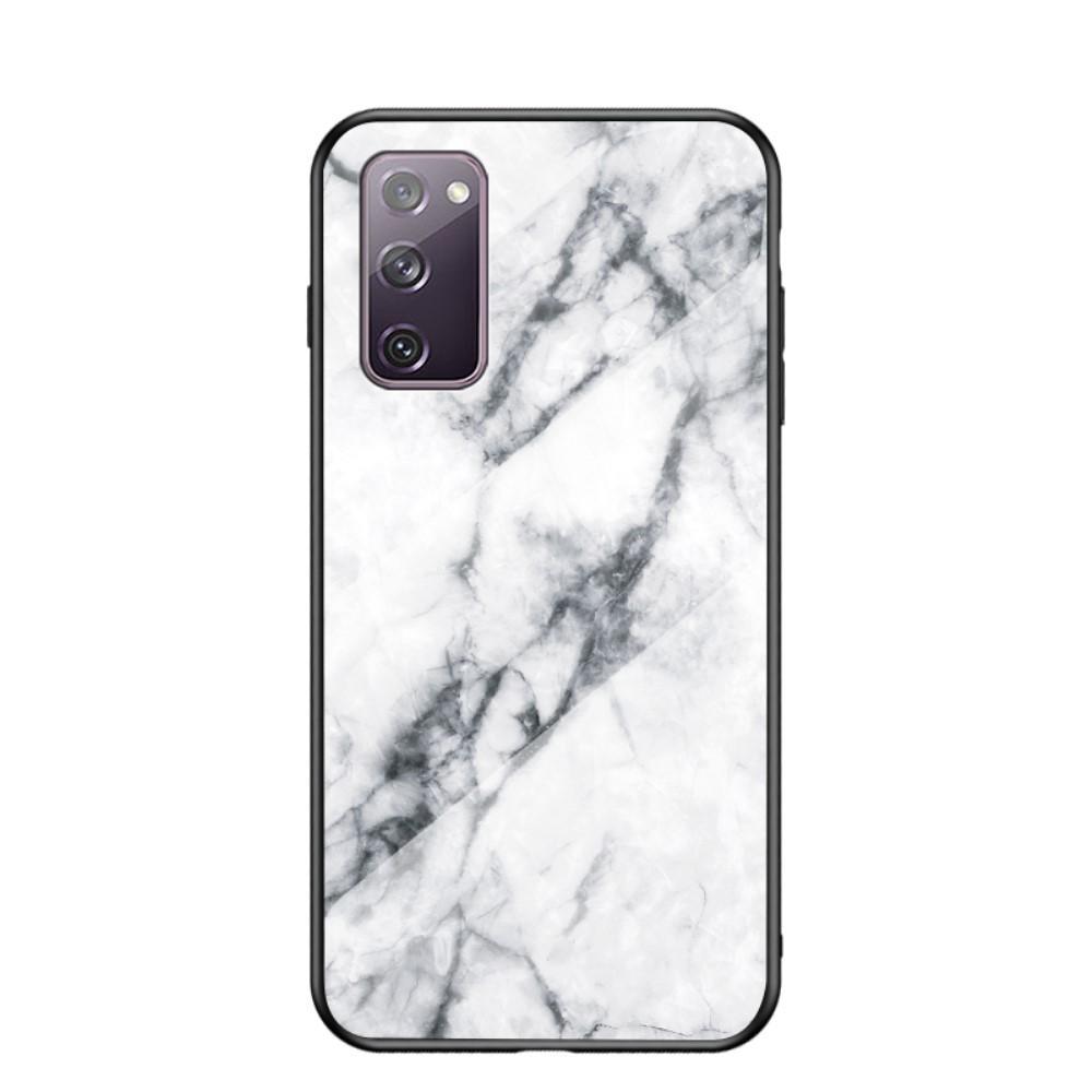 Panssarilasi Kuori Samsung Galaxy S20 FE valkoinen marmori