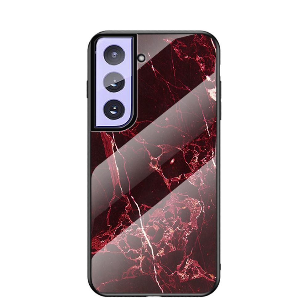 Panssarilasi Kuori Samsung Galaxy S21 Plus punainen marmori