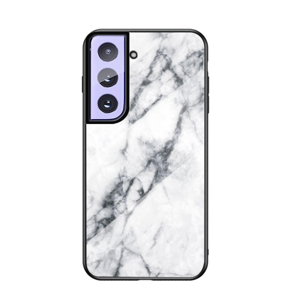 Panssarilasi Kuori Samsung Galaxy S21 Plus valkoinen marmori