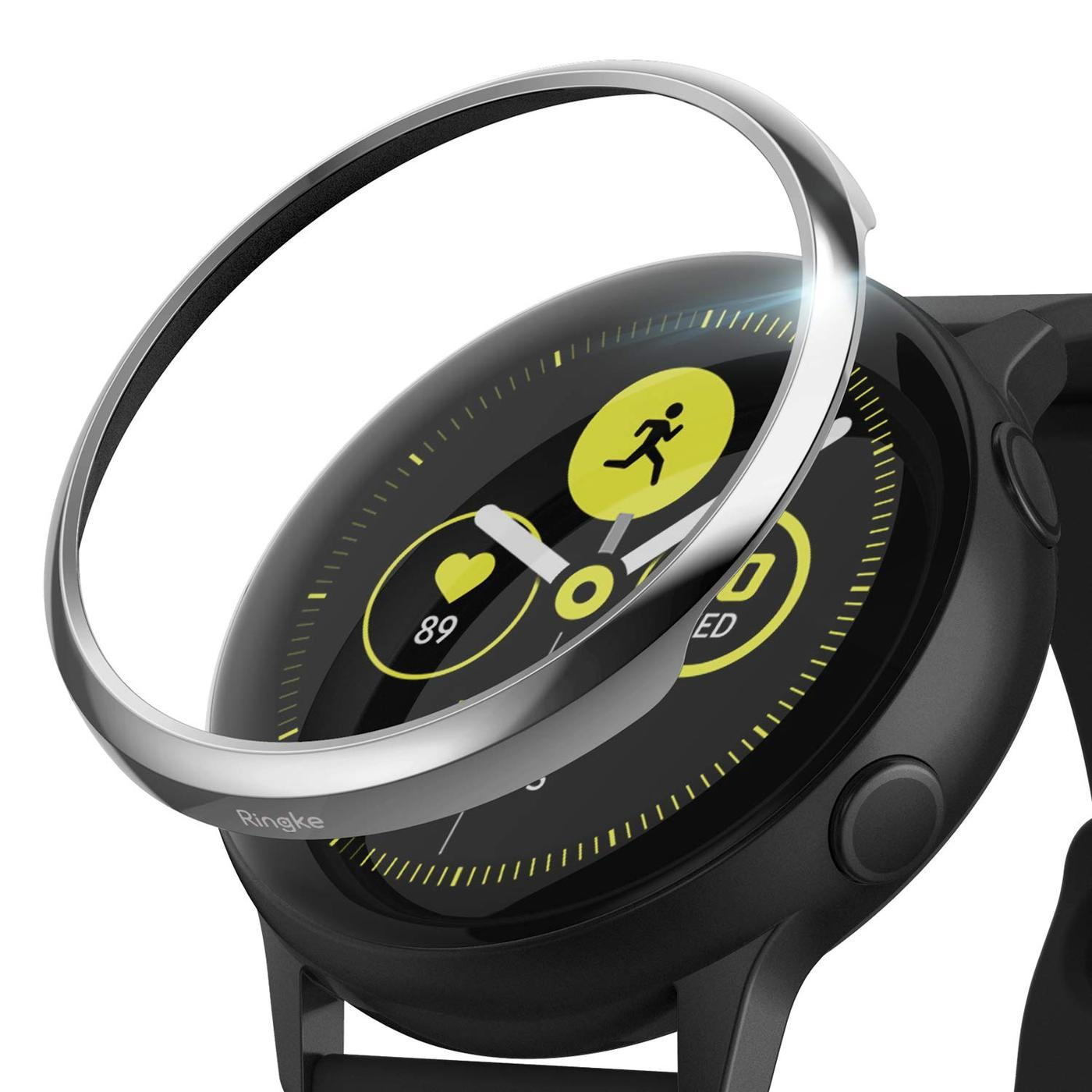 Bezel Styling Galaxy Active Glossy Silver
