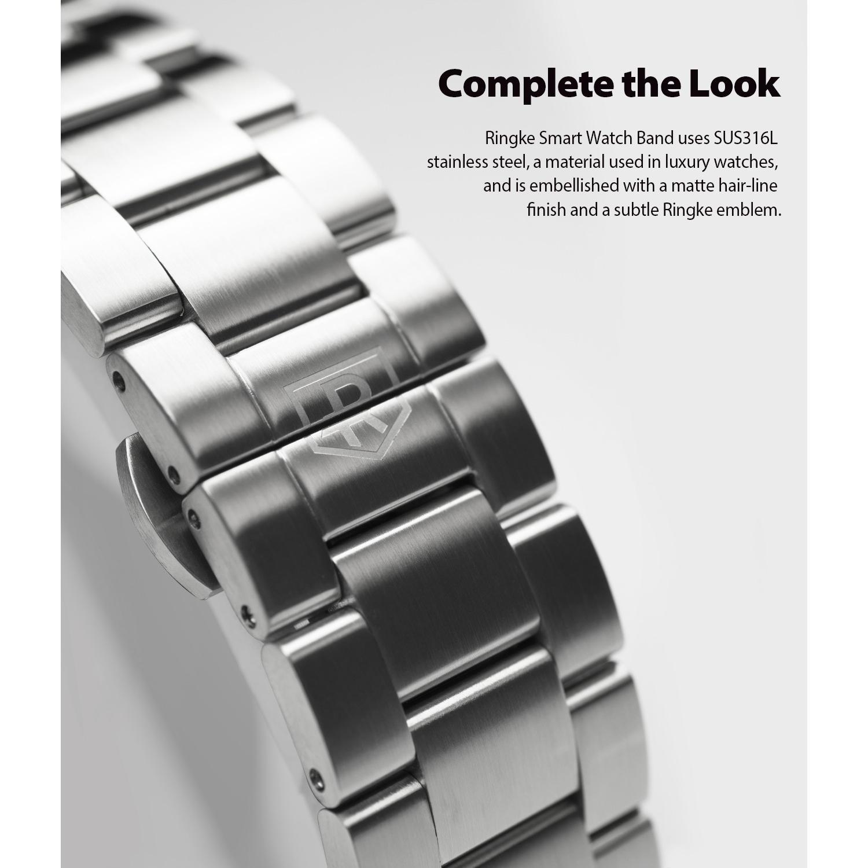 Metal One Armband Galaxy Watch 46mm Silver