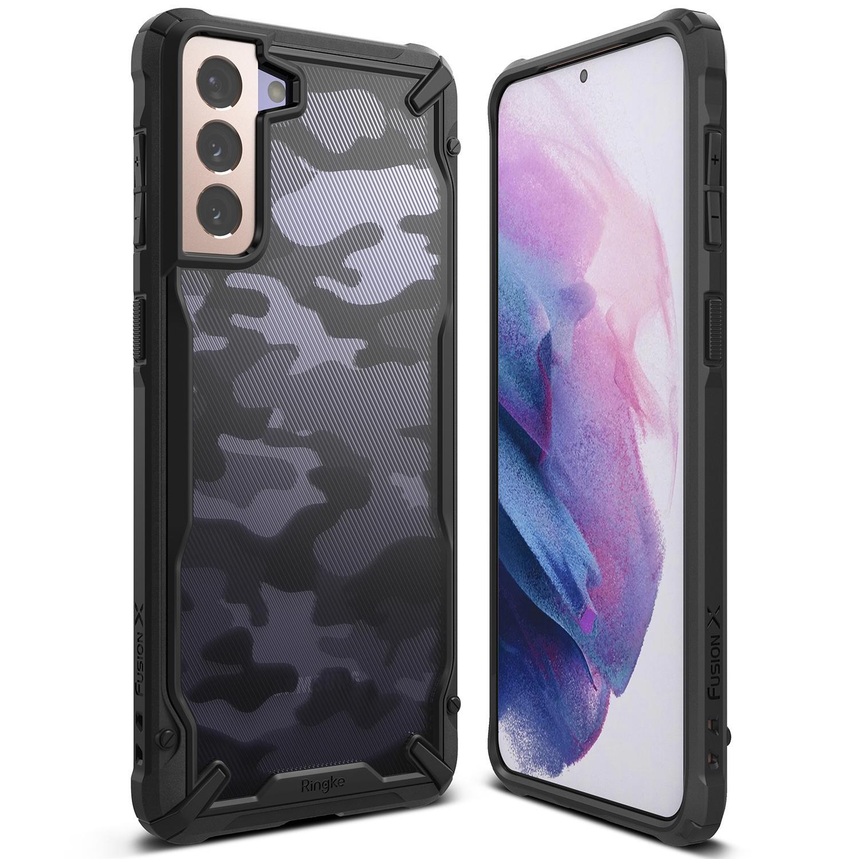 Fusion X Design Case Galaxy S21 Plus Camo Black
