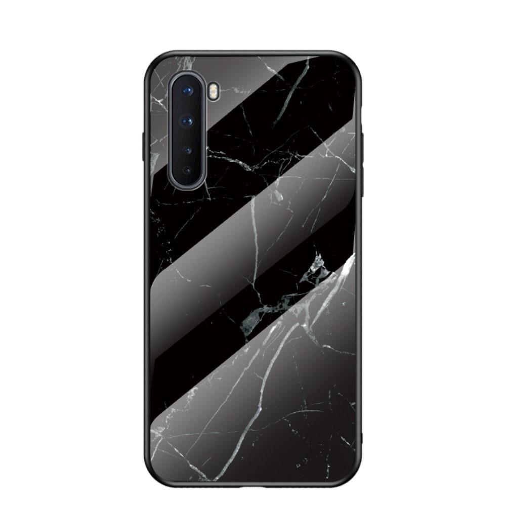 Panssarilasi Kuori OnePlus Nord musta marmori