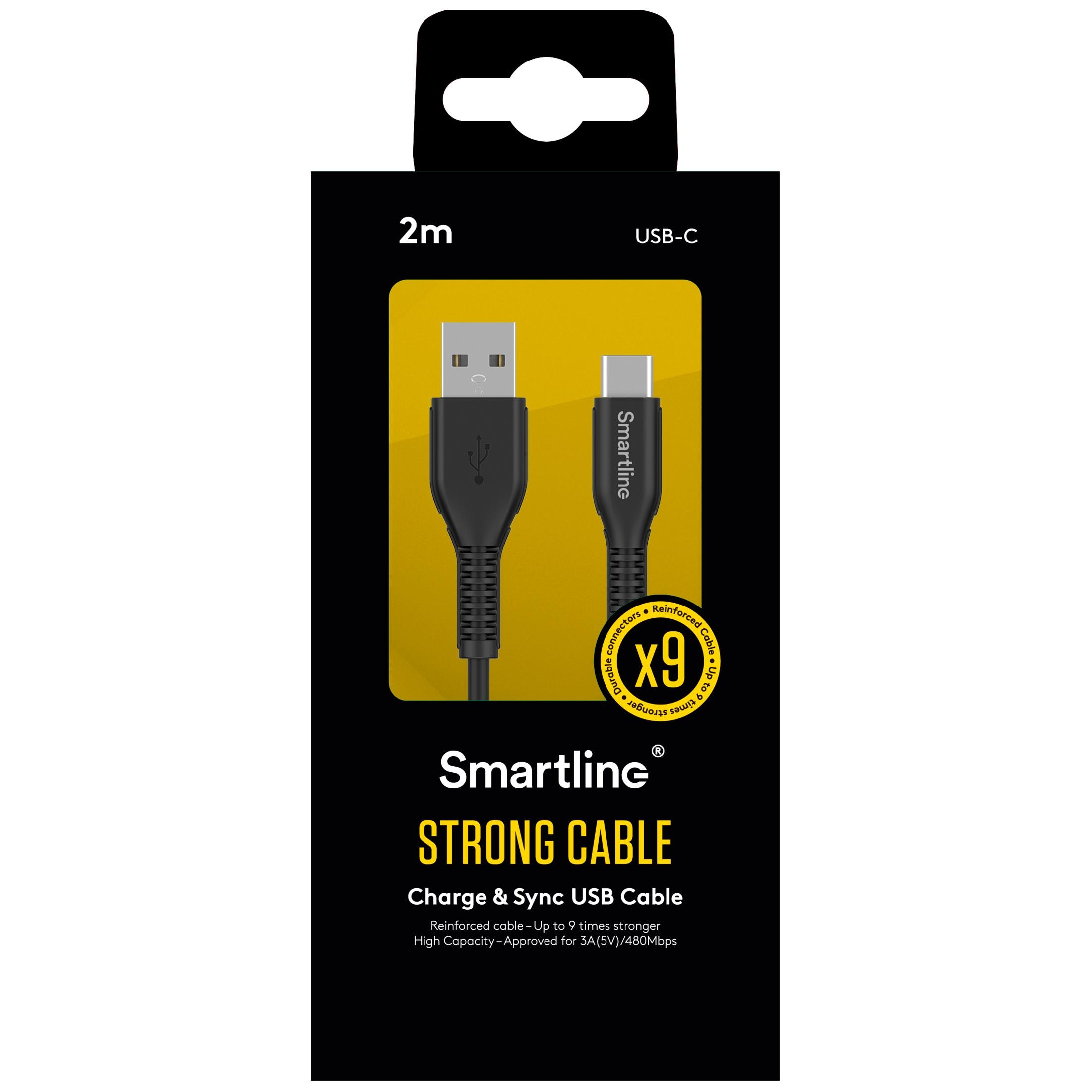 Strong USB Cable USB-C 2m musta