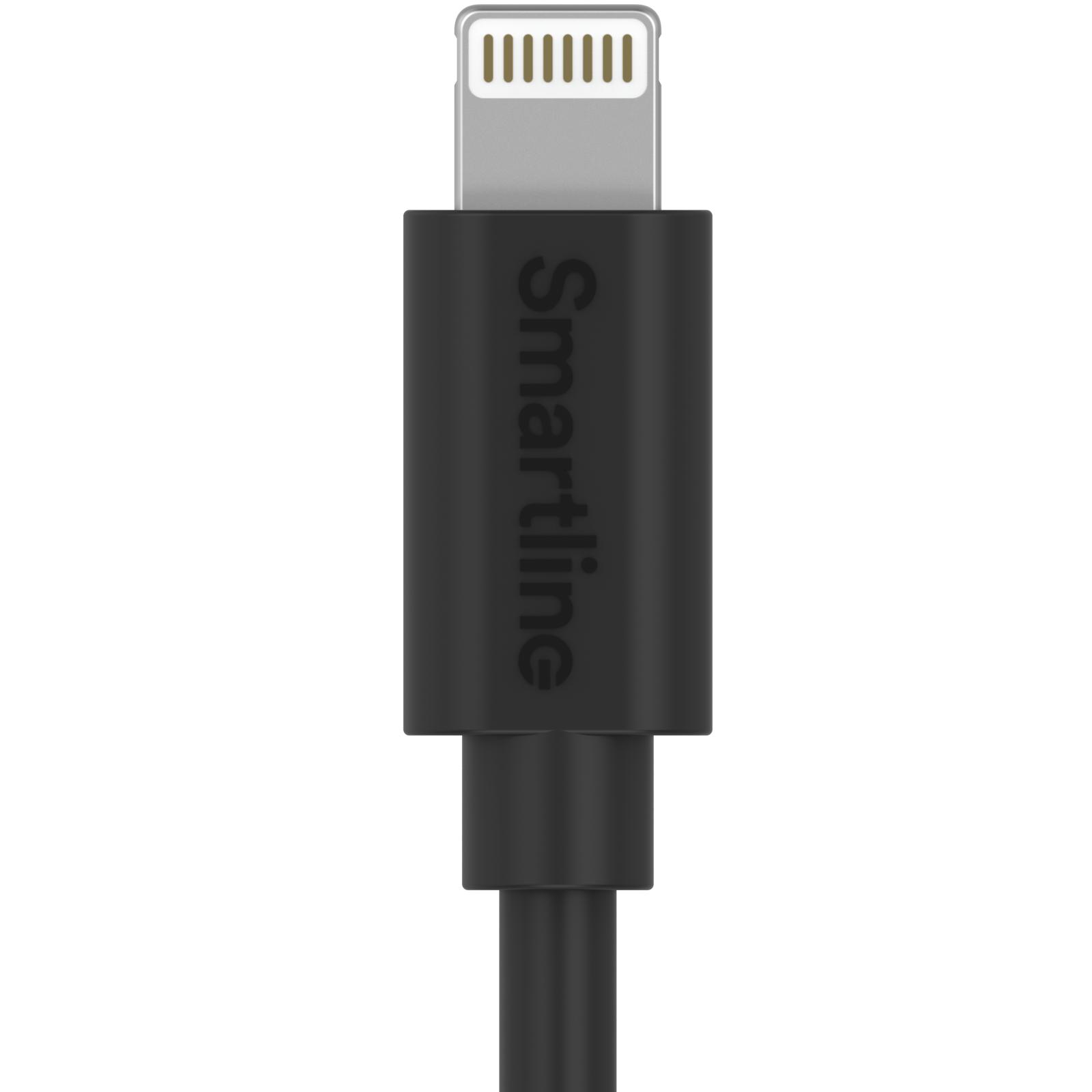 USB Cable Lightning 1m musta