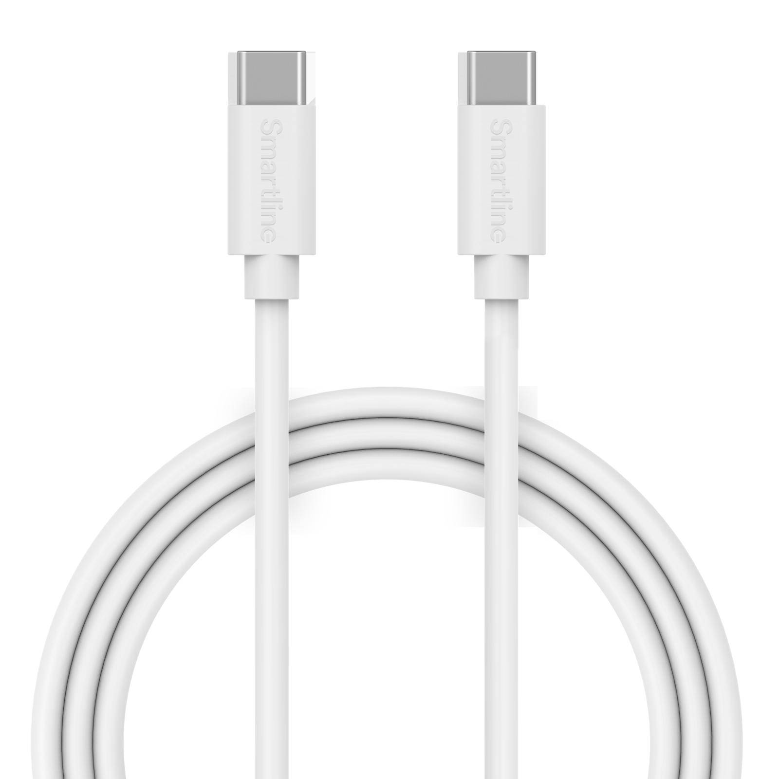 USB Cable USB-C <-> USB-C 1m valkoinen