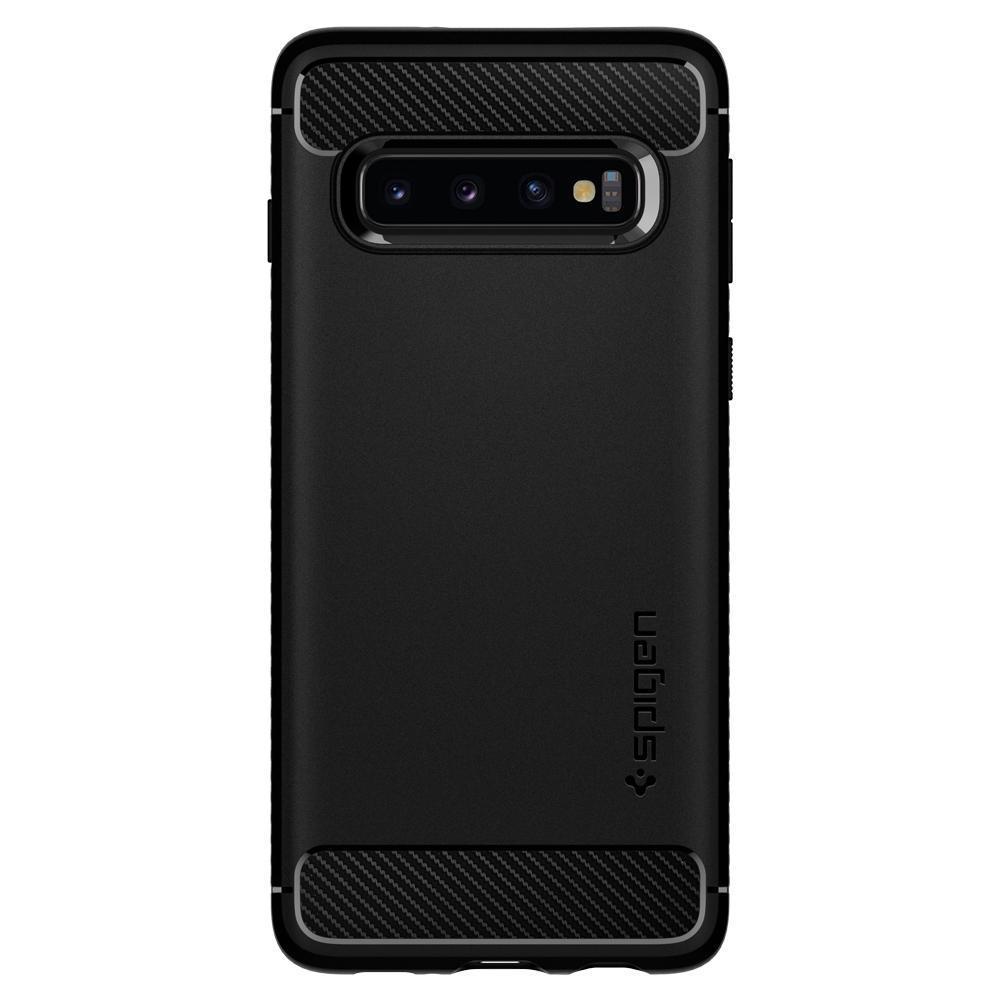 Galaxy S10 Plus Case Rugged Armor Black