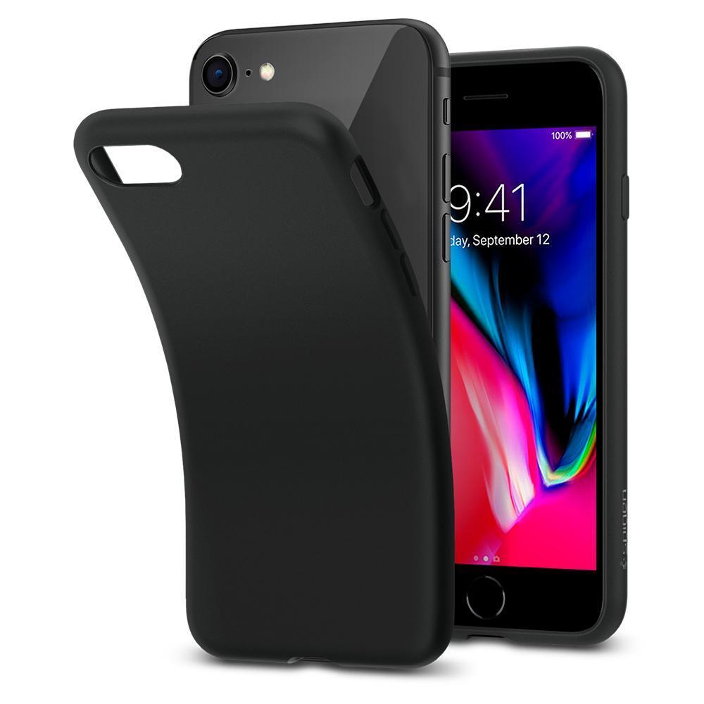 iPhone 7/8/SE 2020 Case Liquid Crystal Matte Black