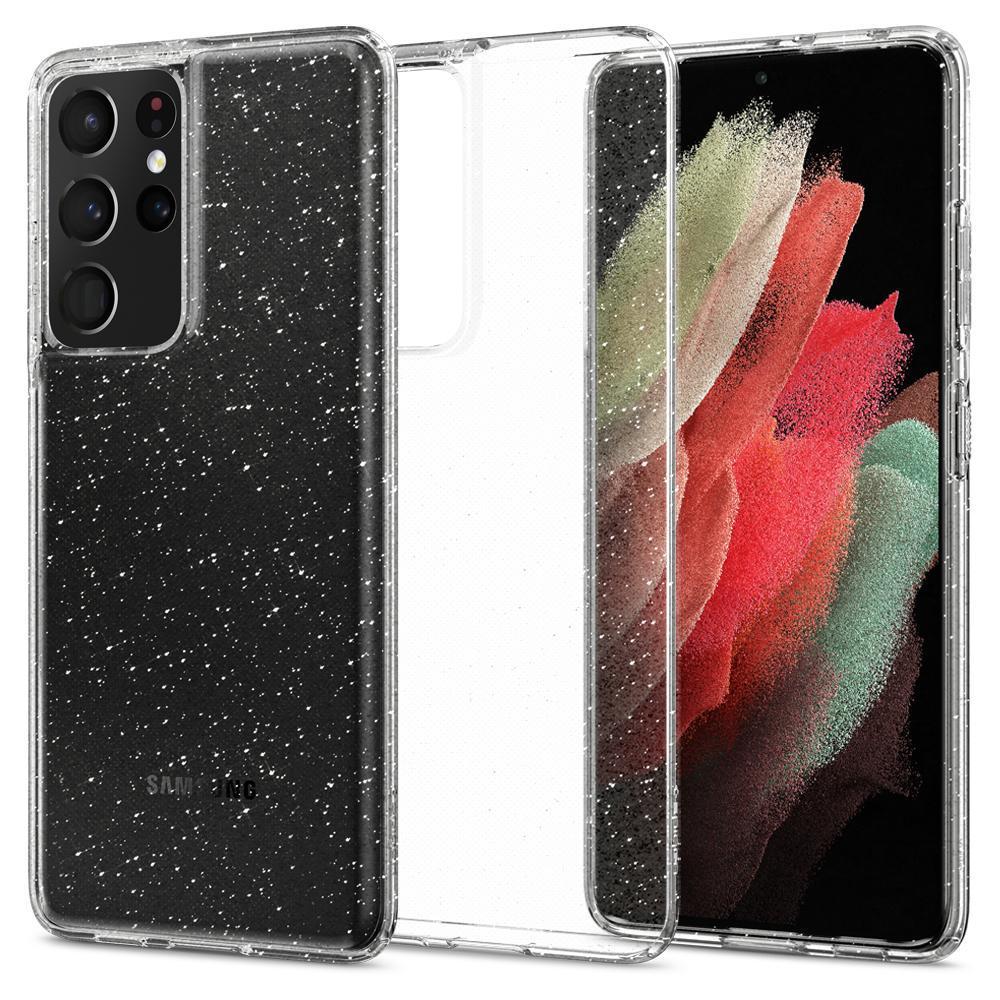 Galaxy S21 Ultra Case Liquid Crystal Glitter Crystal
