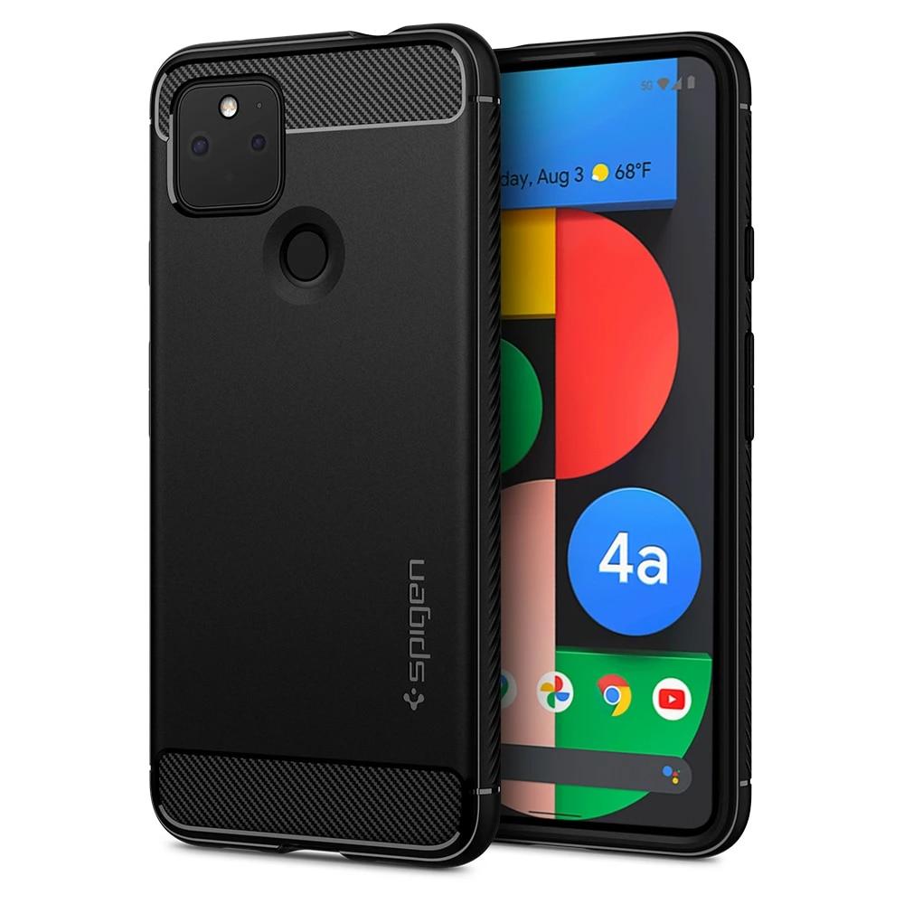 Google Pixel 4a 5G Case Rugged Armor Black